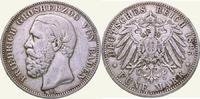 5 Mark 1895  G Baden Friedrich I. 1856-1907. Berieben, sehr schön  50,00 EUR