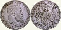 5 Mark 1904  F Württemberg Wilhelm II. 1891-1918. Kl. Kratzer, sehr sch... 30,00 EUR