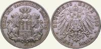 3 Mark 1909  J Hamburg  Sehr schön - vorzüglich  25,00 EUR
