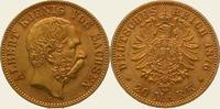 20 Mark Gold 1876  E Sachsen Albert 1873-1902. Vorzüglich +  575,00 EUR kostenloser Versand