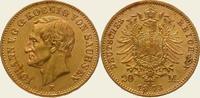 20 Mark Gold 1873  E Sachsen Johann 1854-1873. Vorzüglich - Stempelglanz  750,00 EUR kostenloser Versand