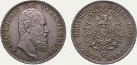 2 Mark 1888  F Württemberg Karl 1864-1891. Schöne Patina. Winz. Randfeh... 1150,00 EUR kostenloser Versand