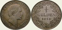 1/2 Gulden 1856 Baden-Durlach Friedrich I. 1852-1907. Fein getönt. Vorz... 225,00 EUR kostenloser Versand