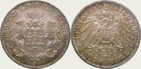 5 Mark 1908  J Hamburg  Feine Tönung. Fast Stempelglanz  350,00 EUR kostenloser Versand