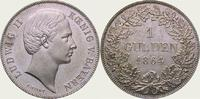 Gulden 1864 Bayern Ludwig II. 1864-1886. Fast Stempelglanz  325,00 EUR kostenloser Versand