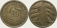50 Rentenpfennig 1924  J Weimarer Republik  Zaponiert. Vorzüglich  20,00 EUR  zzgl. 2,00 EUR Versand