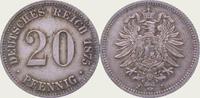 20 Pfennig 1875  J Kleinmünzen  Vorzüglich  20,00 EUR  zzgl. 2,00 EUR Versand