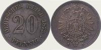 20 Pfennig 1873  A Kleinmünzen  Schöne Patina. Vorzüglich - Stempelglan... 65,00 EUR  zzgl. 4,00 EUR Versand