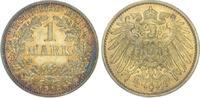 1 Mark 1913  J Kleinmünzen  Schöne Patina. Vorzüglich - Stempelglanz  95,00 EUR  zzgl. 4,00 EUR Versand