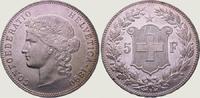 5 Franken 1890  B Schweiz-Eidgenossenschaft  Winz. Kratzer, vorzüglich ... 425,00 EUR kostenloser Versand