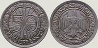 50 Pfennig 1929  F Weimarer Republik  Vorzüglich - Stempelglanz  75,00 EUR  zzgl. 4,00 EUR Versand