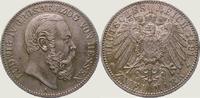 2 Mark 1891  A Hessen Ludwig IV. 1877-1892. Vorzüglich +  1250,00 EUR kostenloser Versand