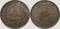 1 Mark 1881  A Kleinmünzen  Schöne Tönung. Fast Stempelglanz  135,00 EUR  zzgl. 4,00 EUR Versand