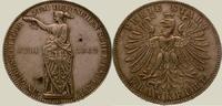 Taler 1862 Frankfurt, Stadt  Kl. Fleck, vorzüglich - Stempelglanz  125,00 EUR  zzgl. 4,00 EUR Versand