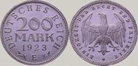 200 Mark 1923  E Weimarer Republik  Polierte Platte. Fast Stempelglanz  75,00 EUR  zzgl. 4,00 EUR Versand