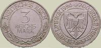 3 Mark 1926  A Weimarer Republik  Winz. Randfehler, vorzüglich  100,00 EUR  zzgl. 4,00 EUR Versand