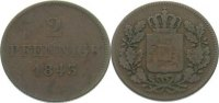 Bayern Cu 2 Pfennig Ludwig I. 1825-1848.