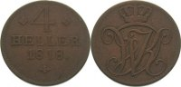 Hessen-Kassel Cu 4 Heller Wilhelm I. 1803-1821.
