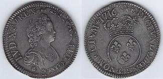 ECU VERTUGADIN 1716 S rose FRANCE REIMS Be...