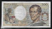 200 FRANCS 1981 FRANCE 'MONTESQUIEU Type 1981 Alphabet B.001' TB ... 12,00 EUR  zzgl. 6,00 EUR Versand