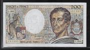 "200 Francs 1989 FRANCE ""Montesquieu Alphabet G.066"" Beau TTB  14,00 EUR  zzgl. 6,00 EUR Versand"
