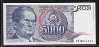 5000 Dinara 1.5.1985 YOUGOSLAVIE *Maréchal Josip Broz Tito* 'Série CS '... 2,50 EUR  plus 7,00 EUR verzending