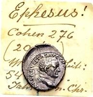 Vespasianus 69-79, AR Denar (16/17mm, 3.35 gram) Ephesus 71 / Ex Lückger SS+