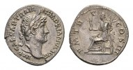 Roman imperial AR Denarius 117-138 gVF Hadrian AD 117-138, AR Denarius R... 118.56 US$ 