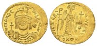 Byzantine    Maurice Tiberius AD 582-602, Gold light weight Solidus of 2... 538.41 US$
