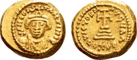 Constans II AD 641-668, Gold Solidus Carthage dated indictional year... 756.86 US$ 675,00 EUR