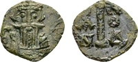 Constans II AD 641-668, AE Decanummium (14mm, 0.93 g) Syracuse SS+  56.60 US$ 50,00 EUR  +  13.58 US$ shipping