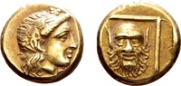 Lesbos, Mytilene. Electrum Hekte (10/11mm, 2.52g), c. 377-326 BC SS+  734.00 US$ 675,00 EUR free shipping
