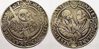 Taler 1540  T Sachsen-Kurfürstentum Johann...