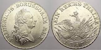 Taler 1779  A Brandenburg-Preußen Friedric...