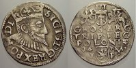 3 Gröscher 1 1594  IF Polen Sigismund III. 1587-1632. Fast vorzüglich  110,00 EUR