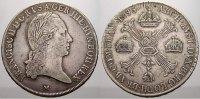 Kronentaler 1795  M Haus Habsburg Franz II. (I.) 1792-1835. Leicht just... 140,00 EUR