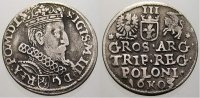 3 Gröscher 1 1605 Polen Sigismund III. 1587-1632. Selten. Sehr schön  250,00 EUR free shipping