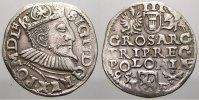 3 Gröscher 1 1595 Polen Sigismund III. 1587-1632. Selten. Sehr schön+  125,00 EUR  +  5,00 EUR shipping