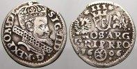 3 Gröscher 1 1606 Polen Sigismund III. 1587-1632. Selten. Kl. Zainende ... 475,00 EUR free shipping