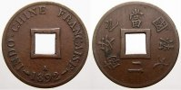 Sapeque 1892  A Französisch Indochina  Selten. Sehr schön+  250,00 EUR free shipping