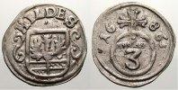 Dreier 1686 Hildesheim, Stadt  Selten. Sehr schön-vorzüglich  125,00 EUR  zzgl. 5,00 EUR Versand