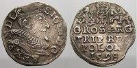 3 Gröscher 1 1598 Polen Sigismund III. 1587-1632. Selten. Kl. Schrötlin... 195,00 EUR  +  5,00 EUR shipping