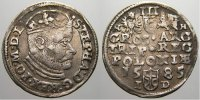 3 Gröscher 1 1585  N Polen Stephan Báthory 1576-1586. Selten. Sehr schö... 195,00 EUR  +  5,00 EUR shipping