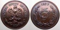 5 Centavos 1927 Mexiko Republik. Fast stempelglanz  175,00 EUR  +  5,00 EUR shipping