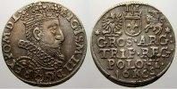 3 Gröscher 1 1602  K Polen Sigismund III. 1587-1632. Selten. Winz. Rand... 150,00 EUR