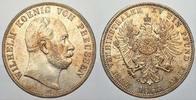 Doppeltaler 1866  C Brandenburg-Preußen Wilhelm I. 1861-1888. Vorzüglic... 1400,00 EUR