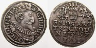 Polen 3 Grscher Sigismund III. 1587-1632.