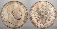 Doppeltaler 1867  C Brandenburg-Preußen Wilhelm I. 1861-1888. Min. just... 1100,00 EUR free shipping
