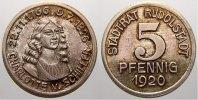 5 Pfennig Silberabschlag! 1920 Rudolstadt (Schwarzburg-Rudolstadt) Stad... 250,00 EUR kostenloser Versand
