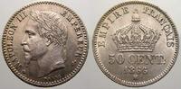 50 Centimes 1866  BB Frankreich Napoleon III. 1852-1870. Fast stempelgl... 125,00 EUR  zzgl. 5,00 EUR Versand